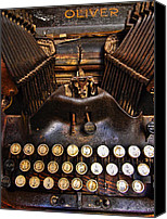 Typewriter Canvas Prints - Oliver Canvas Print by Skip Hunt