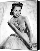 Tulle Canvas Prints - Olivia De Havilland, 1946 Canvas Print by Everett