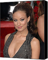 Dangly Earrings Canvas Prints - Olivia Wilde At Arrivals For The 67th Canvas Print by Everett