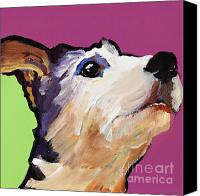 Pat Saunders-white Canvas Prints - Ollie Canvas Print by Pat Saunders-White