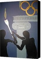 Match Painting Canvas Prints - Olympic 2008 Canvas Print by Ingrid Stiehler