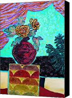 Diane Fine Canvas Prints - On a Pedestal Canvas Print by Diane Fine