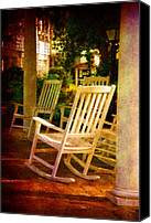 Rocking Chairs Photo Canvas Prints - On a Sunday Afternoon Canvas Print by Susanne Van Hulst