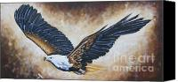 Ilse Kleyn Painting Canvas Prints - On Eagles Wings Canvas Print by Ilse Kleyn