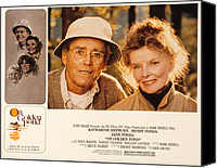 Posth Canvas Prints - On Golden Pond, Henry Fonda, Katharine Canvas Print by Everett