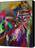 Abstract Equine Canvas Prints - On Horse Canvas Print by James Thomas