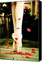 Dance Ballet Roses  Canvas Prints - On Point Canvas Print by Heather Arsement