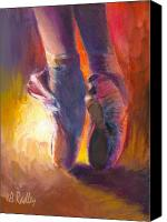 Ann Radley Canvas Prints - On Pointe at Sunrise Canvas Print by Ann Radley