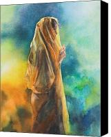 Sari Canvas Prints - On Reflection Canvas Print by Kate Bedell