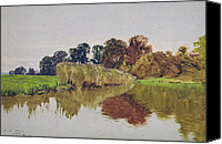 Cole Canvas Prints - On the Arun Stoke Sussex  Canvas Print by George Vicat Cole