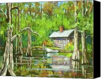 Swamp Canvas Prints - On the Bayou Canvas Print by Dianne Parks