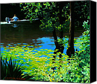 Calcasieu River Canvas Prints - On the Calcasieu Canvas Print by Kevin Lawrence Leveque