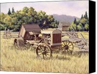 Tractor Wheel Canvas Prints - On The Podium Canvas Print by Richard De Wolfe