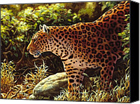 Wild Animal Canvas Prints - On The Prowl Canvas Print by Crista Forest