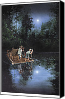 Huckleberry Canvas Prints - On The River Canvas Print by Harold Shull