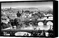 Charles Bridge Canvas Prints - On the River Canvas Print by Jason Wolters