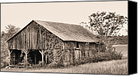 White Barns Canvas Prints - On the Road To Flint Hills Canvas Print by JC Findley