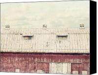 Pennsylvania Barns Canvas Prints - On the Roof Canvas Print by Lisa Russo