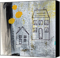 Mint Canvas Prints - On The Same Street Canvas Print by Linda Woods