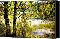 Soulful Canvas Prints - On the Shore of the Loch Achray. Scotland Canvas Print by Jenny Rainbow