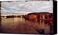 Vltava Canvas Prints - On the Vltava River Canvas Print by Madeline Ellis