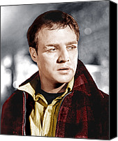 Films By Elia Kazan Canvas Prints - On The Waterfront, Marlon Brando, 1954 Canvas Print by Everett