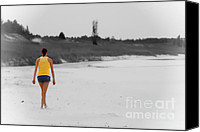 Selective Color Canvas Prints - On The Way to Tomorrow no text Canvas Print by Cathy  Beharriell