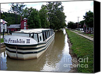 Metamora Indiana Canvas Prints - On the Whitewater Canal Canvas Print by Charles Robinson