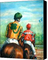 Thomas Canvas Prints - On to the Track Canvas Print by Thomas Allen Pauly