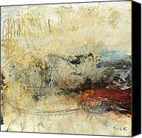 Red Mixed Media Canvas Prints - Once in a Lifetime Canvas Print by Michel  Keck