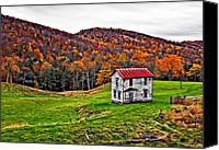 Wv Canvas Prints - Once Upon a Mountainside Canvas Print by Steve Harrington