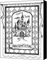 Art Drawings Canvas Prints - Once Upon a Time Canvas Print by Adam Zebediah Joseph