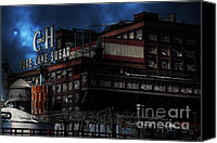 Factories Canvas Prints - Once Upon A Time In The Sleepy Town of Crockett California . 5D16760 Canvas Print by Wingsdomain Art and Photography