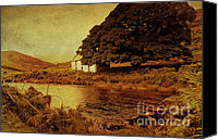 Setting Canvas Prints - Once Upon a Time. Somewhere in Wicklow Mountains. Ireland Canvas Print by Jenny Rainbow