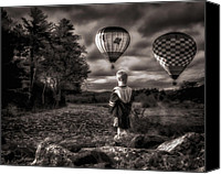 Hot Air Canvas Prints - One Boys Dream Canvas Print by Bob Orsillo