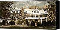 Susan Leggett Canvas Prints - One Hundred Year old Mountain Inn Canvas Print by Susan Leggett