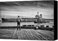 Tugboat Canvas Prints - One Last Look Canvas Print by Bob Orsillo