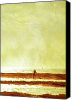 Adults Only Canvas Prints - One Man And His Gull Canvas Print by s0ulsurfing - Jason Swain
