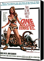 Horror Fantasy Movies Canvas Prints - One Million Years, B.c., Raquel Welch Canvas Print by Everett