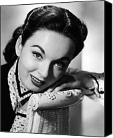 1950s Portraits Canvas Prints - One Minute To Zero, Ann Blyth, 1952 Canvas Print by Everett