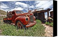 Old Trucks Canvas Prints - One Missing Light Canvas Print by James Steele