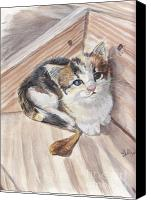 Tabby  Painting Canvas Prints - One More Step Canvas Print by Callie Smith