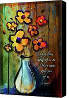Christian Sacred Canvas Prints - One of a Kind Canvas Print by Shevon Johnson