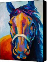 Horse Painting Canvas Prints - One Of The Boys Canvas Print by Marion Rose