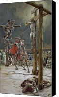 Tissot Canvas Prints - One of the Soldiers with a Spear Pierced His Side Canvas Print by Tissot