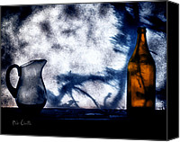 Shadows Canvas Prints - One Red Bottle Canvas Print by Bob Orsillo