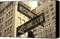 Guidance Canvas Prints - One Way, Manhattan Canvas Print by Photo by Yohsuke Ikebuchi