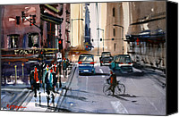 Ryan Radke Canvas Prints - One Way Street - Chicago Canvas Print by Ryan Radke