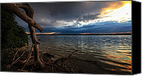 Driftwood Canvas Prints - Onondaga Lake Canvas Print by Everet Regal