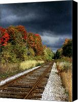Storm Digital Art Canvas Prints - Ontario Autumn Canvas Print by Ellen Cotton
